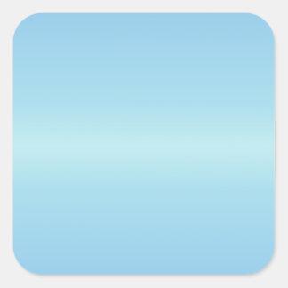 Horizontal Blue1 - Blizzard Blue and Aero Gradient Square Sticker