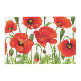 Horizontal Border With Red Poppy Placemat at Zazzle