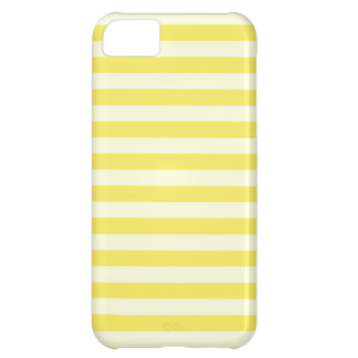 Horizontal Broad Stripes - Light Yellow and Corn Case For iPhone 5C