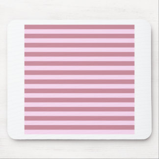 Horizontal Broad Stripes - Pink Lace and Puce Mouse Pad