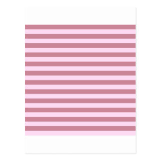 Horizontal Broad Stripes - Pink Lace and Puce Postcard