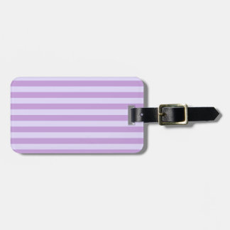 Horizontal BroadStripes-Wisteria and Pale Lavender Luggage Tag