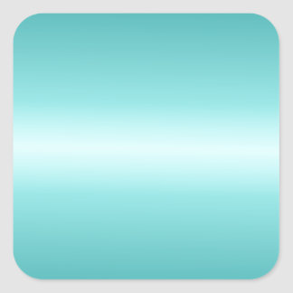 Horizontal Celeste and Teal Gradient Square Sticker