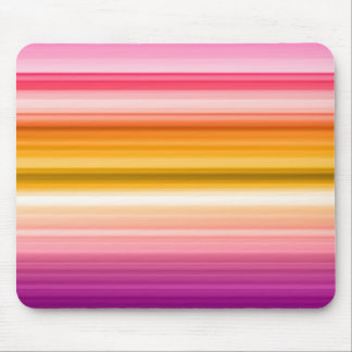 Horizontal Color Stripes Mouse Pad