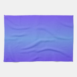 Horizontal Cornflower Blue and Electric Indigo Towels