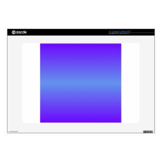 "Horizontal Cornflower Blue and Electric Indigo 15"" Laptop Decals"