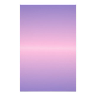 Horizontal Cotton Candy and Ube Gradient Stationery Design