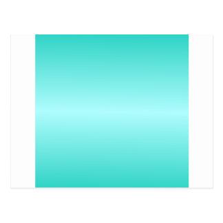 Horizontal Cyan - Celeste and Turquoise Gradient Postcard