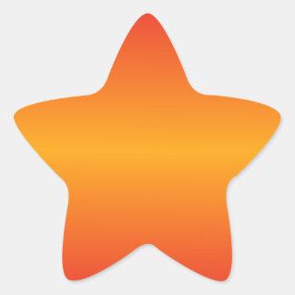 Horizontal Dark Tangerine and Cadmium Red Gradient Star Sticker