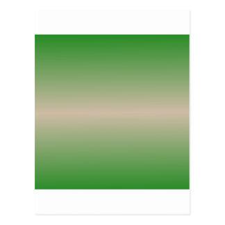 Horizontal Dark Vanilla and Forest Green Gradient Postcard