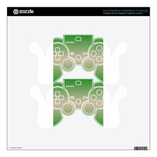 Horizontal Dark Vanilla and Forest Green Gradient PS3 Controller Decal