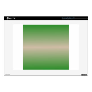 "Horizontal Dark Vanilla and Forest Green Gradient Skins For 15"" Laptops"