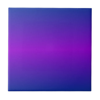 Horizontal DarkPowderBlue and Dark Violet Gradient Ceramic Tile