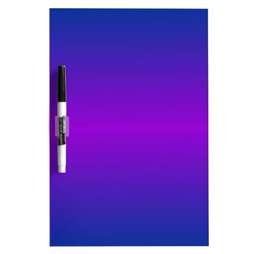 Horizontal DarkPowderBlue and Dark Violet Gradient Dry-Erase Board