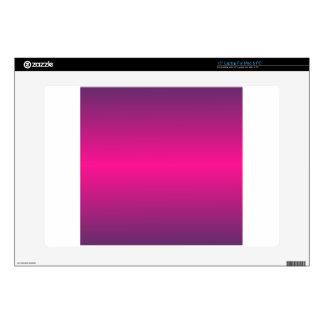 "Horizontal Deep Pink and Imperial Gradient 15"" Laptop Skin"