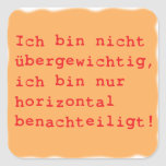 horizontal disadvantages sticker