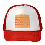 horizontal disadvantages trucker hat
