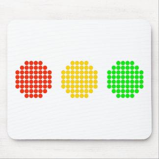 Horizontal Dot Stoplight Colors Mouse Pad