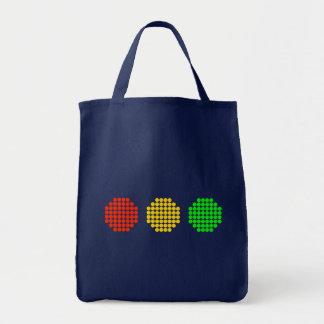 Horizontal Dot Stoplight Colors Tote Bag