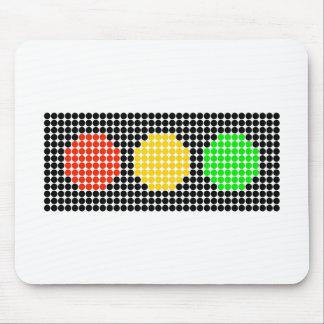 Horizontal Dot Stoplight Mouse Pad
