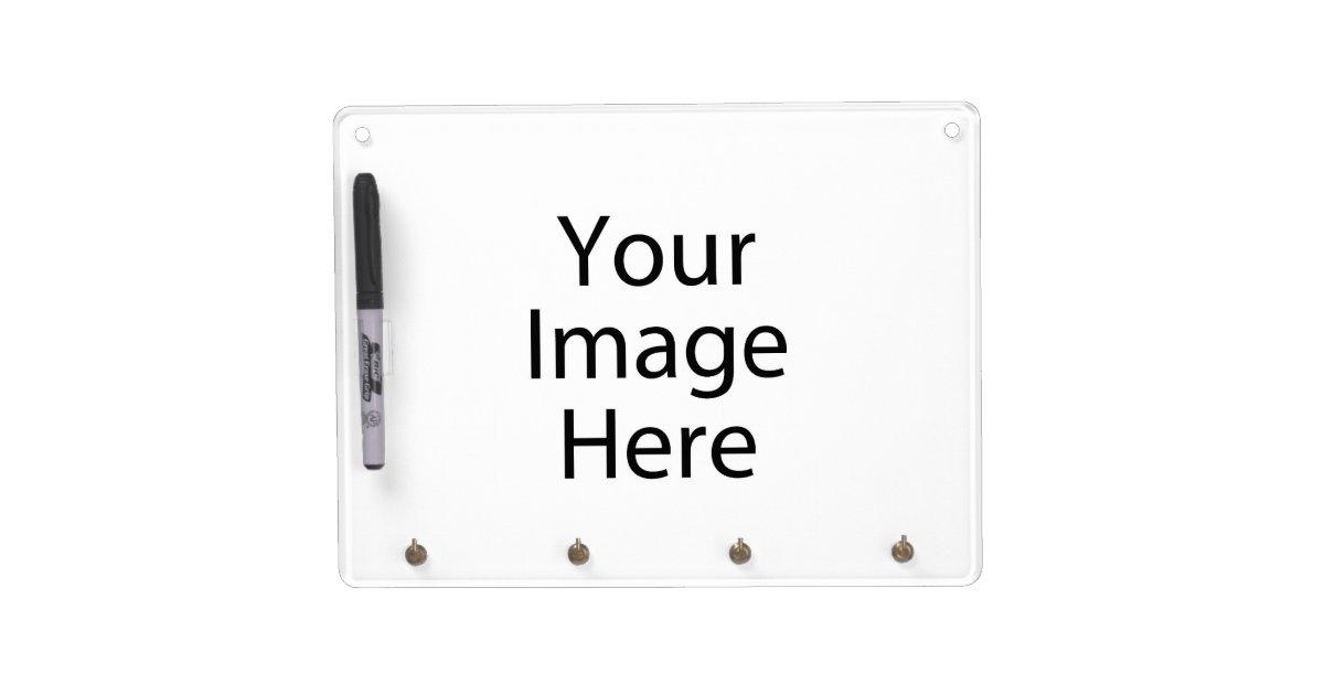 horizontal dry erase board w   keychain holder  pen