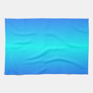 Horizontal Electric Cyan and Electric Ultramarine Towel