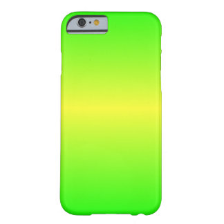 Horizontal Electric Yellow and Electric Green Barely There iPhone 6 Case
