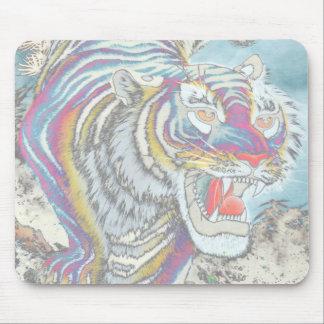 Horizontal estándar del cojín de ratón del tigre alfombrilla de ratón