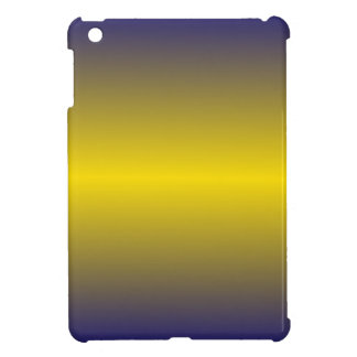 Horizontal Golden Yellow and Navy Blue Gradient Case For The iPad Mini