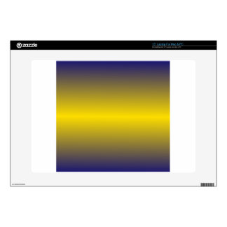 Horizontal Golden Yellow and Navy Blue Gradient Decal For Laptop