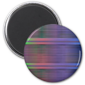 Horizontal graphic lines 2 inch round magnet