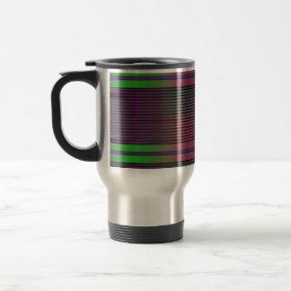 Horizontal graphic lines travel mug