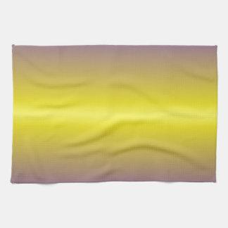 Horizontal Lemon and Electric Ultramarine Gradient Hand Towel