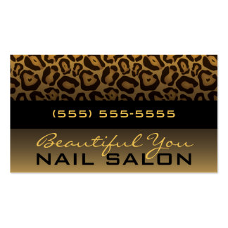 Horizontal Leopard Print Business Card