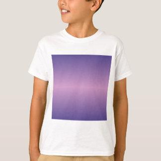 Horizontal Light Medium Orchid and Dark Slate Blue T-Shirt