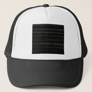 horizontal lines in wood trucker hat