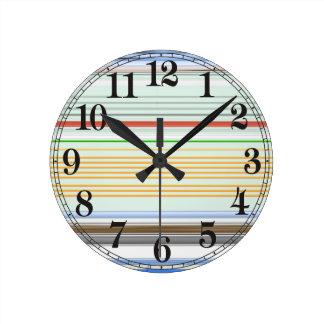 Horizontal lists round clock
