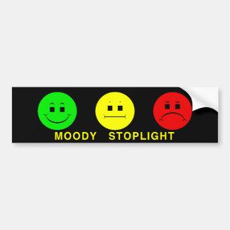 Horizontal Moody Stoplight Lefty Green Bumper Sticker