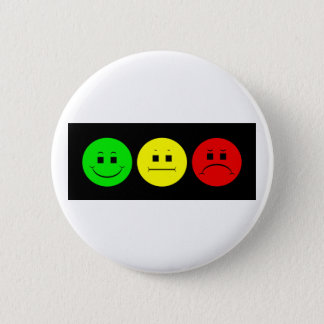 Horizontal Moody Stoplight Lefty Green Pinback Button