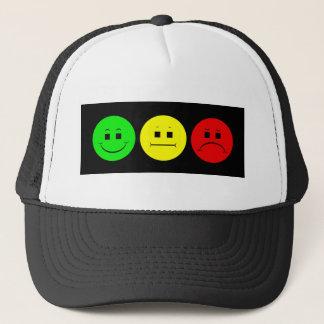 Horizontal Moody Stoplight Lefty Green Trucker Hat
