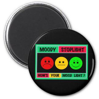 Horizontal Moody Stoplight Logo 2 Inch Round Magnet