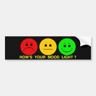 Horizontal Moody Stoplight Mood Light Bumper Sticker