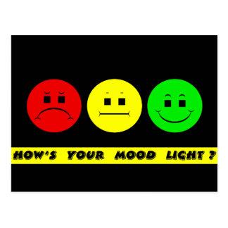 Horizontal Moody Stoplight Mood Light Postcard