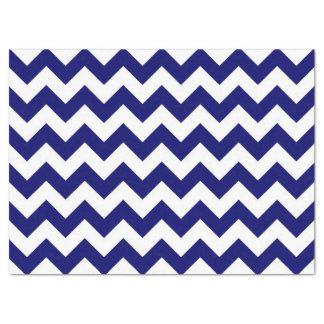 Horizontal Navy and White Zigzag Tissue Paper