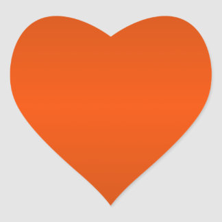 Horizontal Orange3 - Mahogany and Tangelo Gradient Heart Sticker