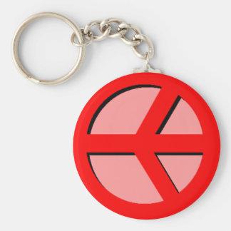 Horizontal Peace (Red) Keychain