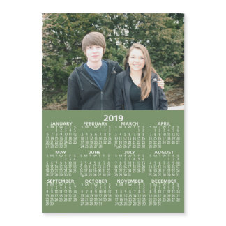 Horizontal Photo 2019 Calendar - Can Edit Color