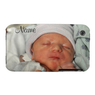 Horizontal Photo Case w/ Text iPhone 3 Cover