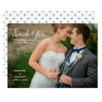 Horizontal Photo Wedding Thank You Card