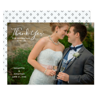 Horizontal Photo Wedding Thank You Invitation